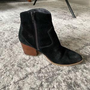 ALDO black suede western block heel boots